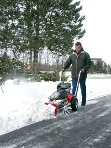 Sneeuw veegmachine