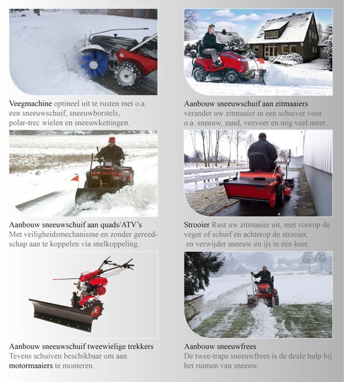 Winter sneeuwschuiver machines